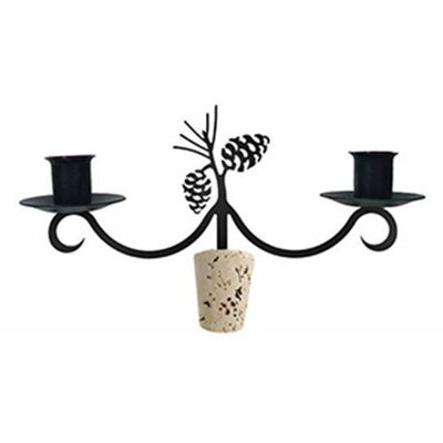Village Wrought Iron C-WB-89 Pinecone Wine Bottle Topper - Candelabra