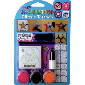 RUBY RED PAINT, INC. 16 Piece UV/Blacklight Glitter Tattoo Set