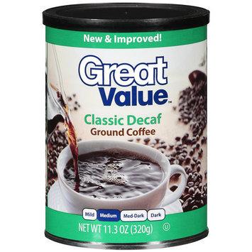 Great Value Classic Decaf Medium Ground Coffee, 11.3 oz