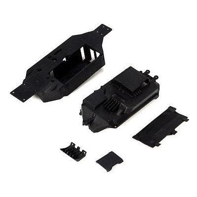 Chassis & Bumper Set: Micro Truggy LOSB1750 LOSI