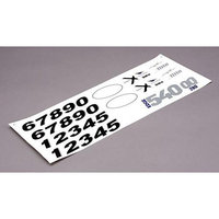 Decal Set: Edge 540QQ 280 BNF Basic EFL625011 E-FLITE