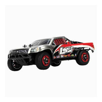Team Losi Racing Team Losi 1/24 4WD Short Course Truck RTR: White/Grey/Black