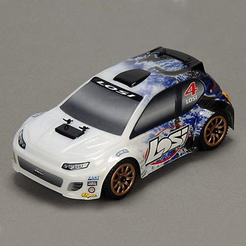 Team Losi Racing Team Losi 1/24 4WD Rally Car RTR: Blue Spatter