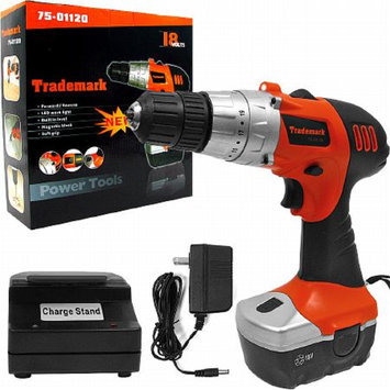 Trademark Global 18V Cordless Drill w/ LED Light and extras