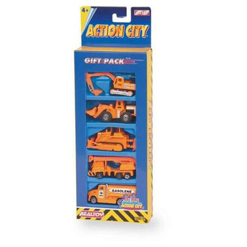 Daron Worldwide Trading RT38814 5 Piece Construction Vehicle Gift Pack