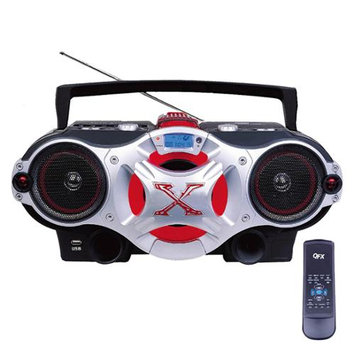 Quantum Fx QFX Portable CD/MP3 Player with USB-Red