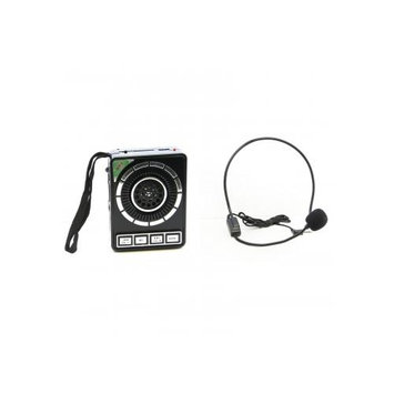QFX Portable PA System with USB/MICRO-SD, FM Radio- Black