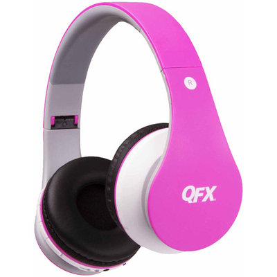 Quantumfx QFX H-251BT Wireless Bluetooth Stereo Headphone with FM Radio - Red