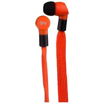 Qfx Quantum SHOELACES Earphones - Stereo - Orange - Mini-phone - Wired - 18 Ohm - 20 Hz 20 kHz - Earbud
