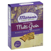 Miltons Original Multi-Grain Baked Snack Crackers, 9 oz, - Pack of 12