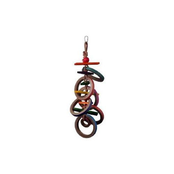 Super Bird Creations Olympic Rings 17 x 4in Large Bird Toy