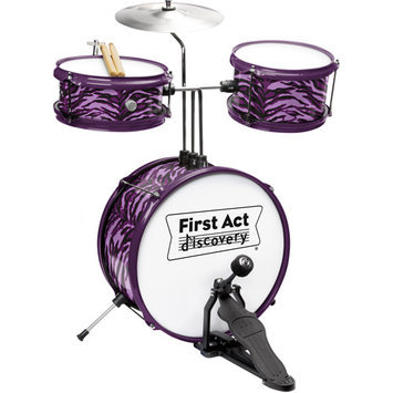 First Act Junior Drum Set - Purple Zebra