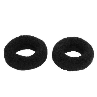 Unique-bargains 1.8 Wide Soft Elastic Plush Ponytail Holder Hair Tie Band Black 2 Pcs