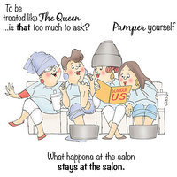 Art Impressions Girlfriends Cling Rubber Stamp-Beauty In Progress Set