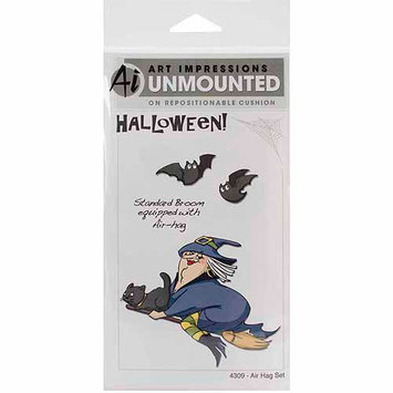 Easy-up Company Art Impressions Halloween Cling Rubber Stamp Set Air Hag
