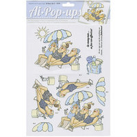 Art Impressions 4347 Art Impressions Pop-Ups 4 Sheets with 2 Designs 8.25 in. X11.75 in-Deco Set 6