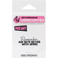 NOTM330068 - Art Impressions Girlfriends Cling Rubber Stamp 3.25