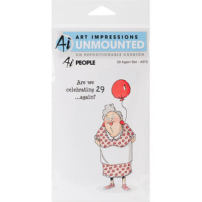 NOTM330082 - Art Impressions People Cling Rubber Stamp 7