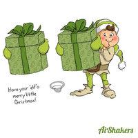 Art Impressions Shakers Card Set-Elf