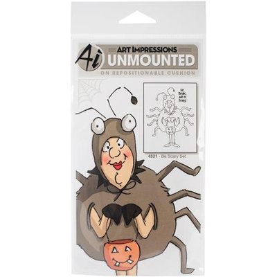 Art Impressions Halloween Cling Rubber Stamp Set 7