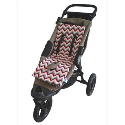 Tivoli Couture MFSL 1099 Luxury Memory Foam Stroller Liner Chevron red
