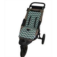Tivoli Couture MFSL 1097 Luxury Memory Foam Stroller Liner Chevron green