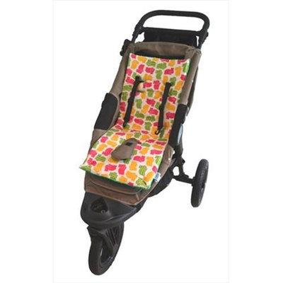 Tivoli Couture MFSL 1102 Luxury Memory Foam Stroller Liner Hippo - green