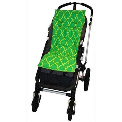 Tivoli Couture MFSL 1087 Luxury Memory Foam Stroller Liner Morrocan Lattice - green