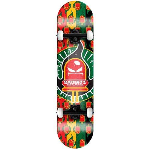 Custom Quest, Inc. Radiate Skateboard Ride the Light - Rasta Logo