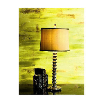 Lex Lighting Taupe Gray Marble Table Lamp