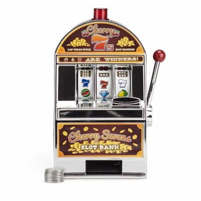 Bry Belly GSLO-102 Cherry Sevens Slot Machine Bank with 10 Free Tokens