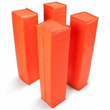 Crown Sporting Goods SFOO-301 Set of 4 Orange Anchorless Football Pylons
