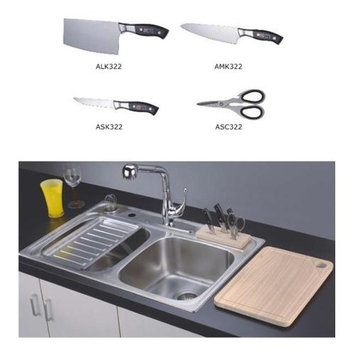 Dawn Kitchen & Bath Stainless Steel Knife Set for AST3322