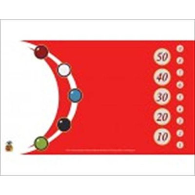 Nested Egg Gaming Supplies GMT017 The Tokens Red And White Gaming Playmat