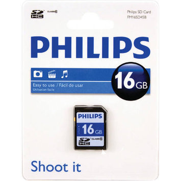 Philips Fm16sd45b/27 Sdhc[tm] Card [16GB, Class 10]