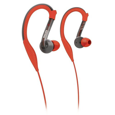 Philips ActionFit Sports Earhook Headphones-Orange/Gray Multi color
