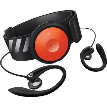 Philips SA5DOT04 GoGEAR FitDot 4GB MP3 Player with FM Radio (Orange & Black)