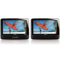 Philips PD9012M/37 Widecreen Portable DVD Player - 9.0-inch LCD Dual Screen - Black