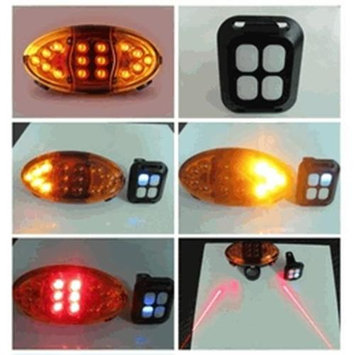 Bright Ideas IG300 Wireless LED and Laser Bike Blinker and Tail light