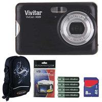 Vivitar Vivicam VX029 10.1MP HD Digital Camera Plus 8GB Kit (Black)