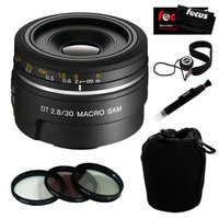 Sony 30mm f/2.8 Macro Lens for Alpha Digital SLR Cameras with Accessory Kit