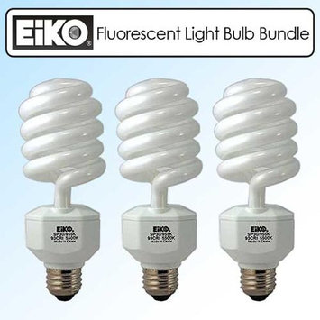 EIKO SP30 120V 30W Spiral Compact Fluorescent Light Bulb Bundle of 3