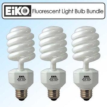 EIKO SP30 120V 30W Spiral Compact Fluorescent Light Bulb Bundle of 3