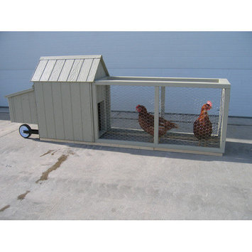 Little Cottage Co. Little Cottage Company Berlin Chicken Tractor with Chicken Run
