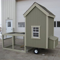 Little Cottage Co. Little Cottage Colonial Gable Run Chicken Coop - 4L x 4W ft.