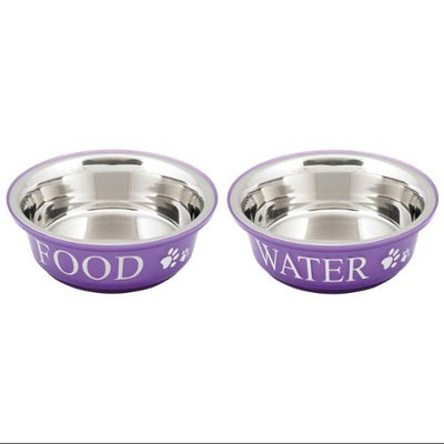 Buddy's Line Food & Water Set Small 1pt-Lilac