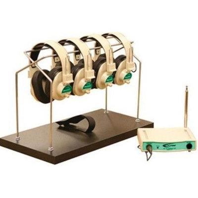Califone International Cls729-4-03 4-Person Wireless Listening System - Green
