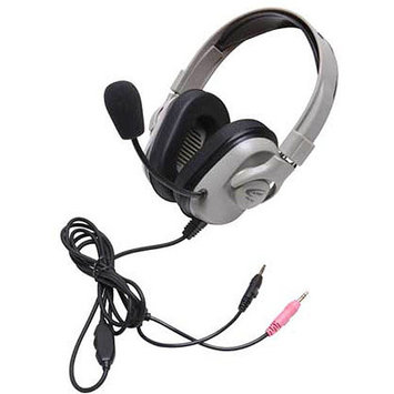 Califone International HPK-1050 Titanium Washable Headset with Dual 3.5mm Plugs