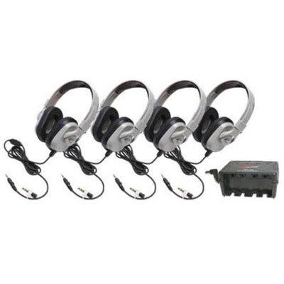 Califone International HPK-1024 Four-Pack Titanium Series Headphones