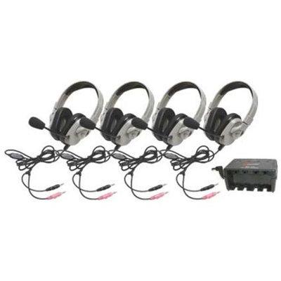 Califone International HPK-1034 Four-Pack Titanium Series Headsets